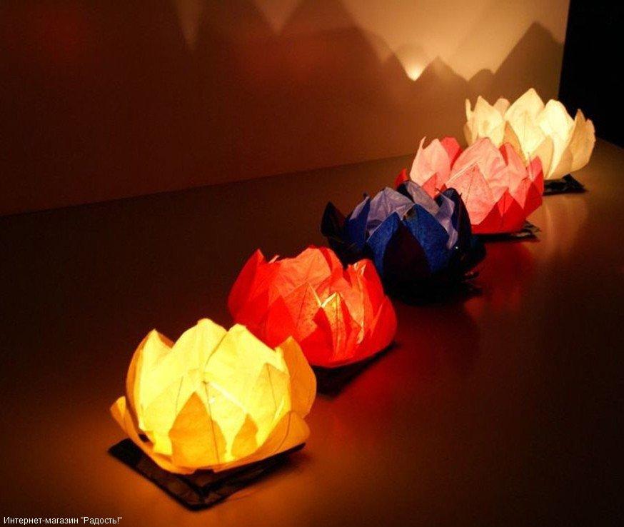 Фонарики из бумаги со свечки своими руками